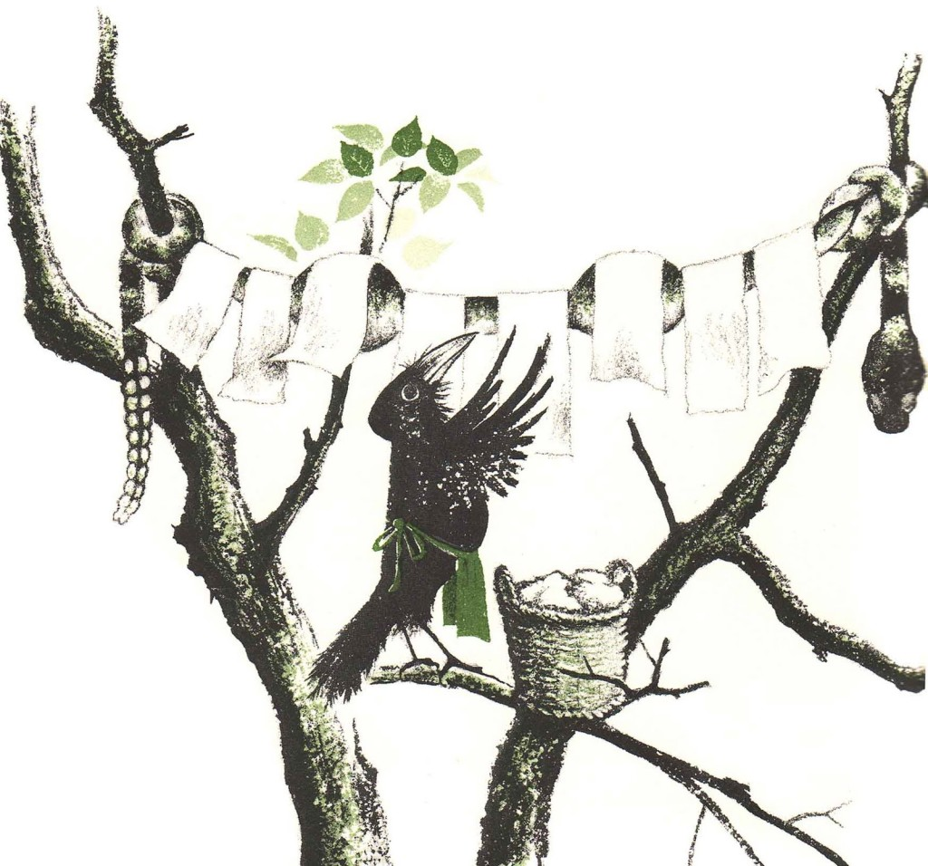The Crows of Pearblossom -- clothesline