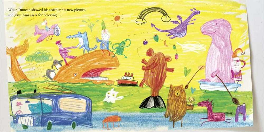 The Day the Crayons Quit -- full spread